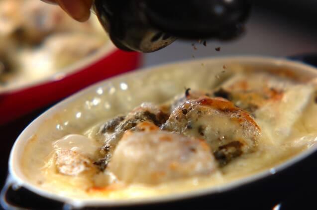 里芋のブルーチーズグラタンの作り方の手順4
