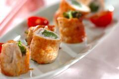 豚肉のワサビ菜巻き