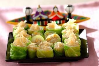 そぼろ寿司のキャベツ巻き
