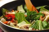エビとチンゲンサイのカレー風味焼きそばの作り方5