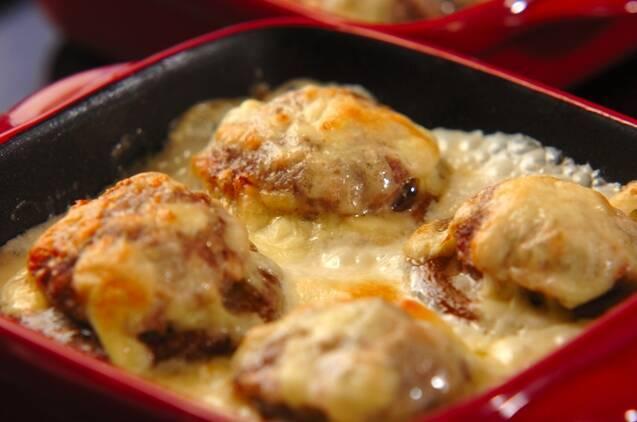 肉詰めシイタケのクリームグラタンの作り方の手順5