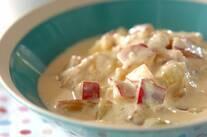 サツマイモと鶏肉のクリーム煮