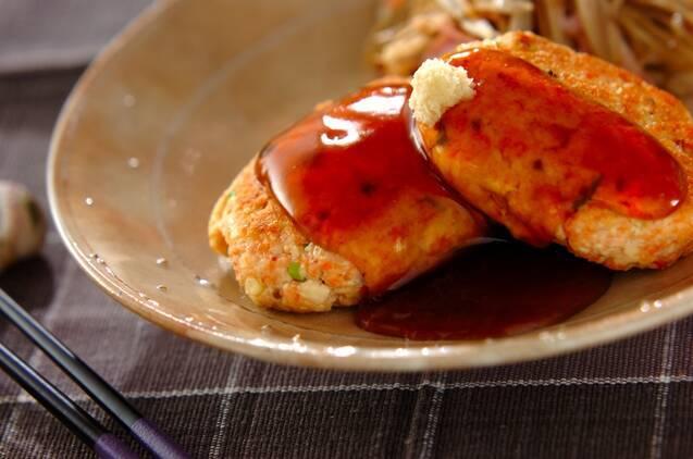 鮭と豆腐のハンバーグ