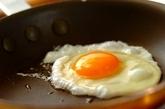 半熟卵のせネギたっぷりお好み焼きの作り方4