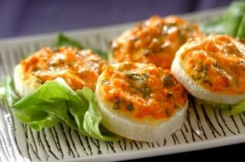 鮭長芋のトースター焼き