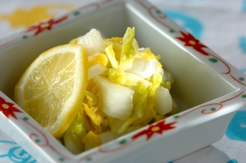 白菜のレモン浅漬け
