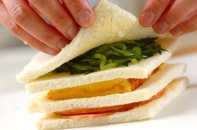 ひな祭りサンドイッチの作り方の手順4