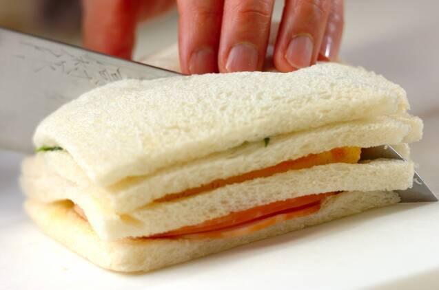 ひな祭りサンドイッチの作り方の手順5