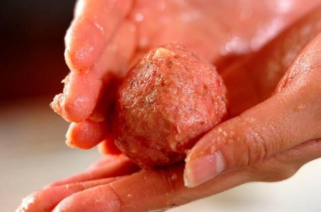 ミートボールのトマトソースがけの作り方の手順5