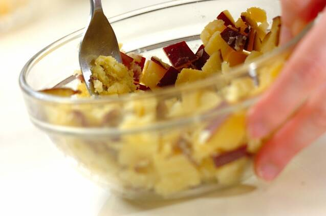 サツマイモとプルーンのサラダの作り方の手順2