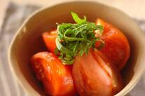 トマトのだし浸し