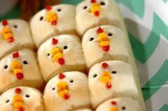 にわとりちぎりパン