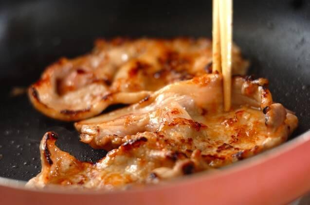 春キャベツ入り豚のショウガ焼きサンドの作り方の手順4