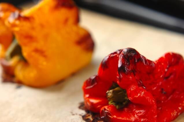 焼きパプリカのおかかしょうゆの作り方の手順1