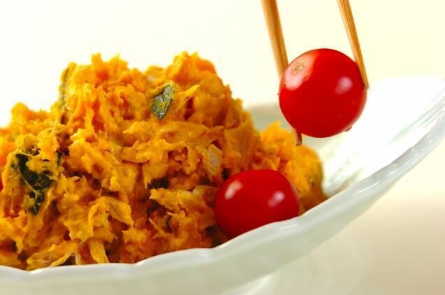 カボチャとツナのサラダの作り方の手順4