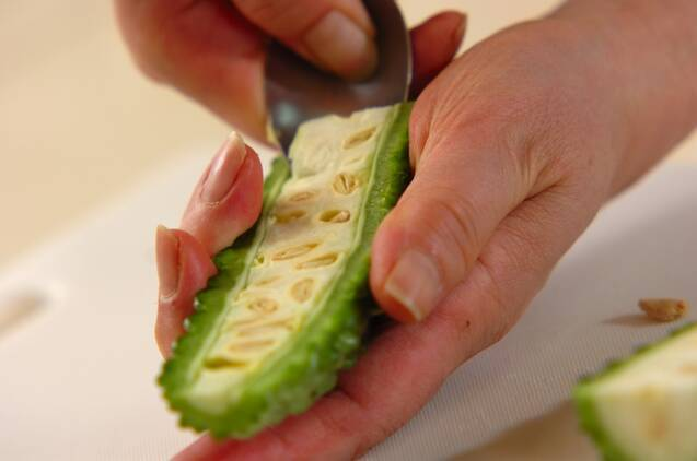 ゴーヤと豆腐のチャンプルーの作り方の手順3