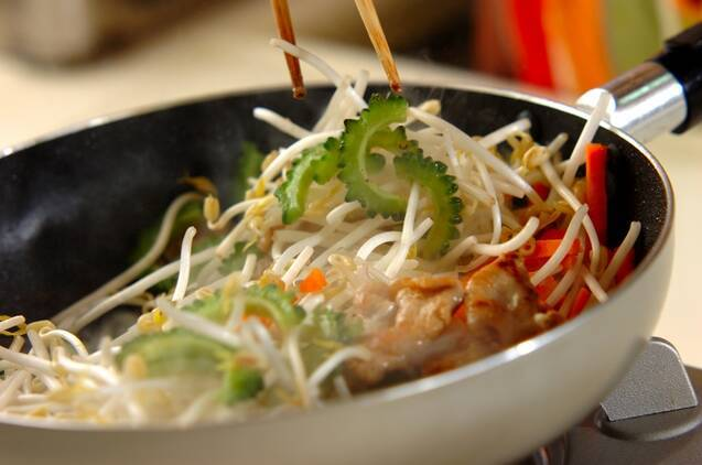 ゴーヤと豆腐のチャンプルーの作り方の手順5