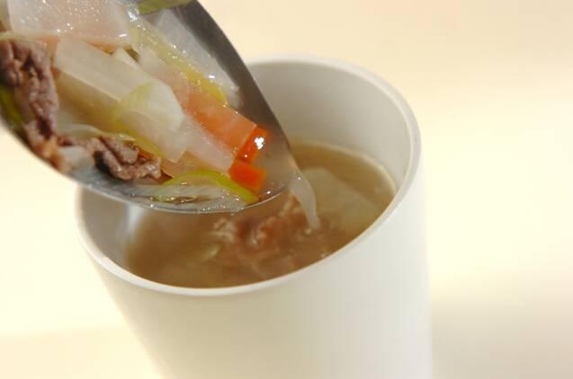 牛肉入りスープの作り方の手順5