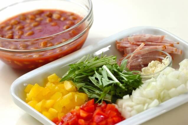 大豆のトマトリゾットの作り方の手順2