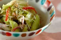 キャベツの酢の物風サラダ