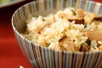 松茸炊き込みご飯