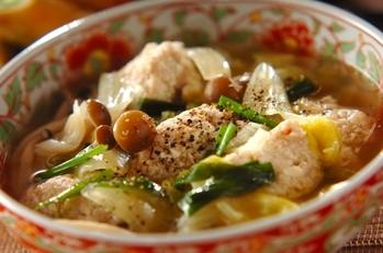 ヘルシー肉団子スープ