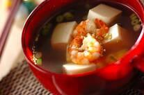 エビと豆腐のピリ辛スープ