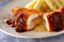鶏むね肉のハムチーズサンドカツ