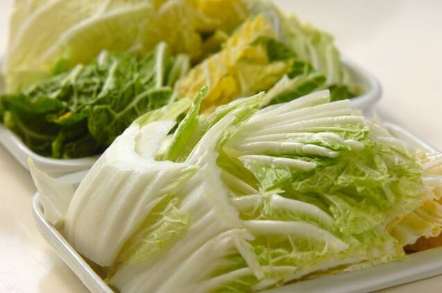 白菜ミルフィーユのトマト煮の作り方の手順2