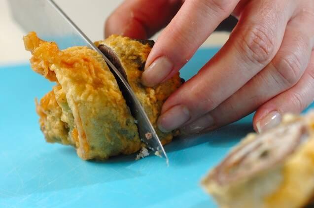 イワシの梅肉揚げの作り方の手順6