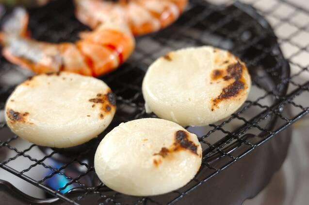 焼きエビ入りお雑煮の作り方の手順3