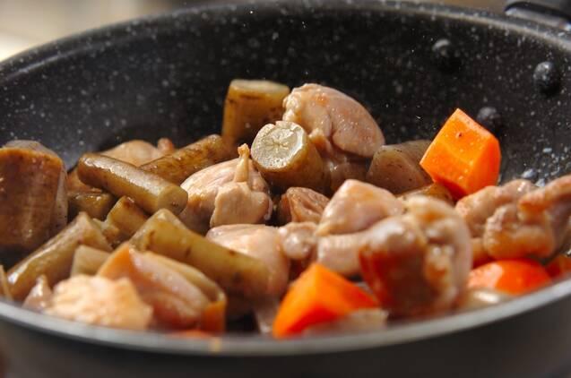 煮物上手になれる!鶏ゴボウ煮の作り方の手順4
