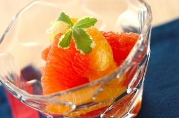 オレンジとグレープフルーツのハチミツマリネ