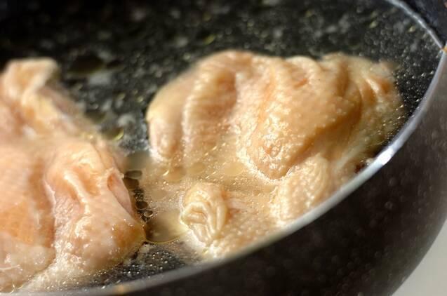 ゆで鶏のパクチーサルサの作り方の手順2