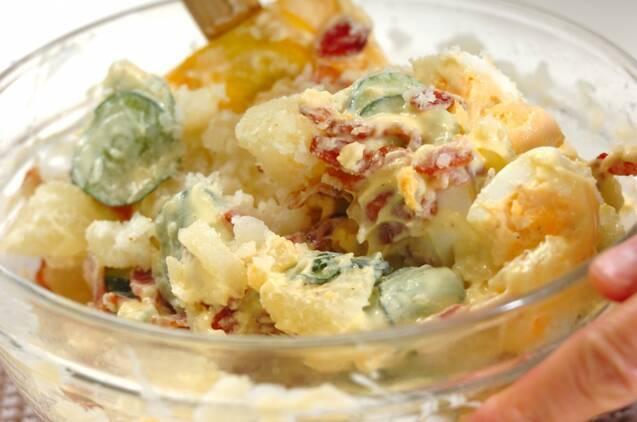 ベーコン入りポテトサラダの作り方の手順5