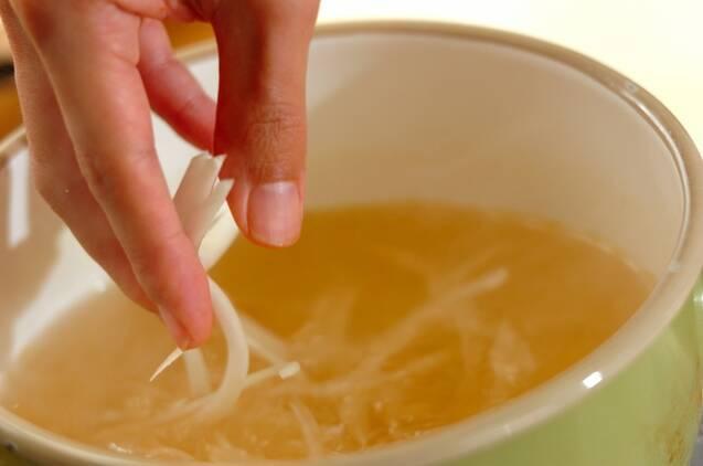 レタスのふんわり卵スープの作り方の手順4