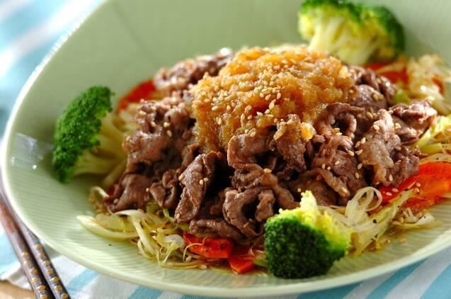 牛肉の炒め物オニオンダレ
