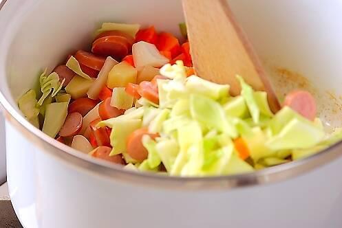 野菜のミルクスープの作り方の手順5