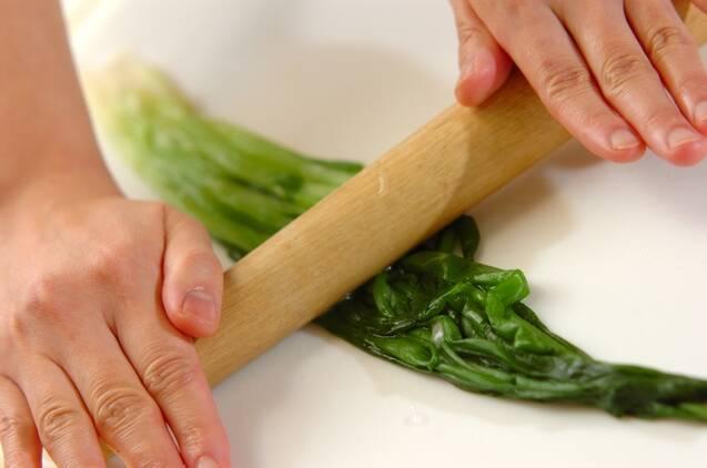 ホタルイカとワケギの酢みそがけの作り方の手順2