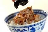 ネギ塩豚の丼の作り方2