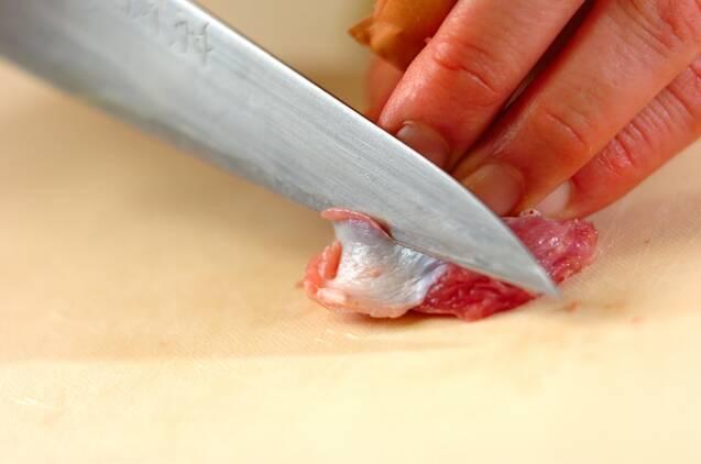 砂肝のチンジャオロースー風炒めの作り方の手順1