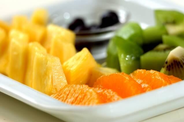 さわやかフルーツ白玉ポンチの作り方の手順1