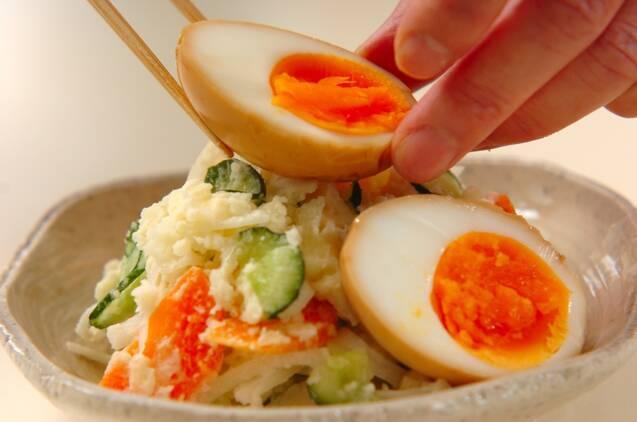 煮卵のせポテトサラダの作り方の手順7