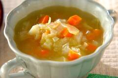 シンプル野菜のトロミスープ