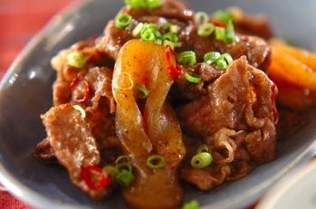 牛肉のピリ辛炒め煮