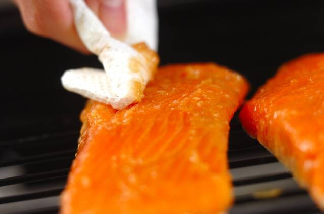 鮭のみそ焼きの作り方の手順4