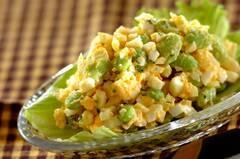 枝豆入り卵サラダ