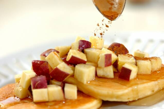 サツマイモのパンケーキの作り方の手順4