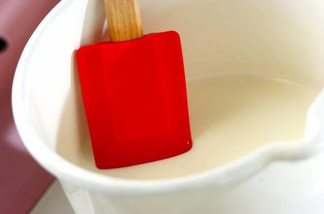 抹茶のスフレ アングレーズソースかけの作り方の手順5