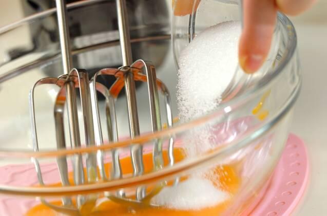 抹茶のスフレ アングレーズソースかけの作り方の手順6